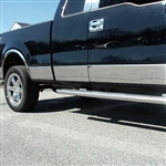 "Ford F150 Chrome Rocker Panel Trim Set, 2009 - 2014 - SUPER CAB 6.5' w/flrs 10p-7.25-7.5""-L"
