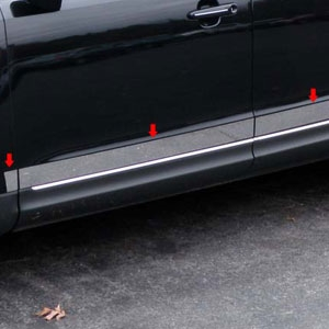 Lincoln MKT Chrome Rocker Panel Trim, 2010, 2011, 2012, 2013, 2014, 2015, 2016, 2017, 2018, 2019