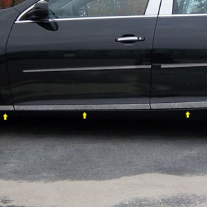 Chevrolet Malibu Chrome Lower Door Rocker Panel Set, 2013, 2014, 2015
