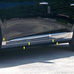 Cadillac XTS Chrome Rocker Panel Trim (lower and below door), 10pc. Set, 2013, 2014, 2015