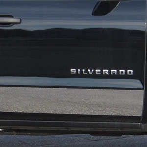 Chevrolet Silverado Chrome Rocker Panel Trim, 2014, 2015, 2016, 2017, 2018