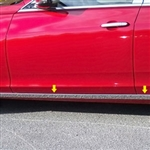 Cadillac CTS Sedan Chrome Rocker Panel Trim (below door), 2014, 2015, 2016, 2017, 2018
