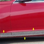 Cadillac CTS Sedan Chrome Rocker Panel Trim (lower and below door), 2014, 2015, 2016, 2017, 2018, 2019