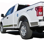 Ford F150 Chrome Rocker Panel Trim Set, 2015, 2016, 2017, 2018, 2019, 2020