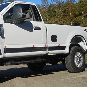 Ford Super Duty Regular Cab Chrome Rocker Panel Trim Set