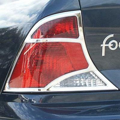 Ford Focus Chrome Tail Light Bezels 2pc 1999 200 2001 2002