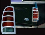 "Ford F150 ""Fleetside"" Chrome Tail Light Bezels, 1997, 1998, 1999, 2000, 2001, 2002, 2003"