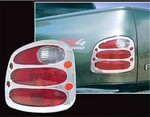 Ford F150 Flareside Chrome Tail Light Bezels, 1997, 1998, 1999, 2000, 2001, 2002, 2003