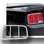 Ford Mustang Chrome Tail Light Bezels, 2005, 2006, 2007, 2008, 2009