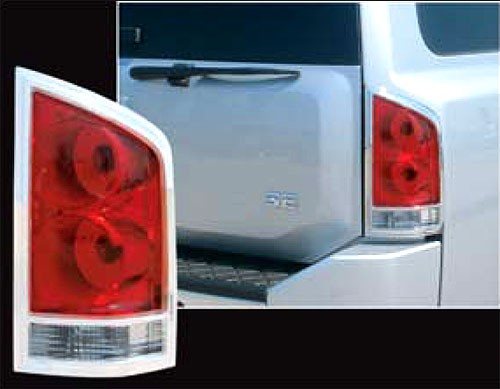 Superior Auto Parts >> Nissan Armada Chrome Tail Light Bezels, 2004, 2005, 2006, 2007, 2008, 2009, 2010, 2011, 2012 ...