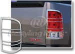 GMC Sierra Chrome Tail Light Bezels, 2007-2013