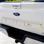 Ford F150 Chrome Lower Tailgate Accent Trim (top half), 2018, 2019, 2020