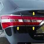 Toyota Avalon Chrome Tail Light Trim, 2013, 2014, 2015, 2016, 2017, 2018