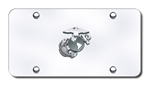Chrome License Plate - US Marines