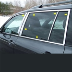 Toyota Highlander Chrome Window Trim Package, 14pc. Set, 2008, 2009, 2010, 2011, 2012, 2013
