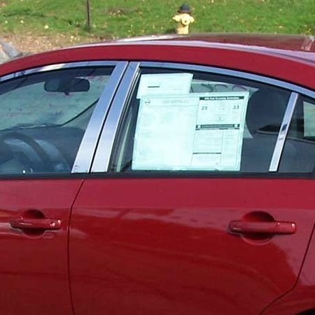 Nissan Sentra Chrome Window Trim Package 10 Pc Set 2007