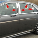Lincoln Continental Chrome Window Trim Package, 2017, 2018, 2019, 2020
