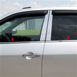 Acura MDX Chrome Window Sill Trim, 2001, 2002, 2003, 2004, 2005, 2006