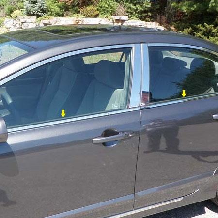 Honda Civic Chrome Window Sill Trim 4pc 2006 2007 2008 2009 2010 Shopsar Com