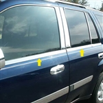 Chevrolet Trailblazer Chrome Window Sill Trim Package, 2002, 2003, 2004, 2005, 2006, 2007, 2008