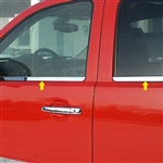 GMC Sierra Chrome Window Sill Trim,  2007, 2008, 2009, 2010, 2011, 2012, 2013