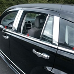 Dodge Caliber Chrome Window Sill Trim, 6pc  2007, 2008, 2009, 2010, 2011, 2012