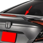 Honda Civic Sedan Painted Rear Spoiler (pedestal mount with light), 2016, 2017, 2018