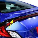 Honda Civic Coupe 'SI Factory Style' Painted Rear Spoiler, 2016, 2017, 2018