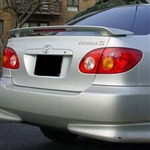Toyota Corolla 2 Post Painted Rear Spoiler (with light), 2003, 2004, 2005, 2006, 2007, 2008
