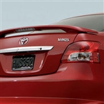 Toyota Yaris Sedan 2 Post Painted Rear Spoiler (with light), 2007, 2008, 2009, 2010, 2011