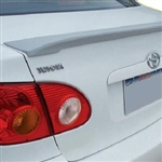 Toyota Corolla Lip Mount Painted Rear Spoiler, 2003, 2004, 2005, 2006, 2007, 2008