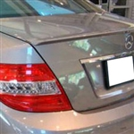 Mercedes C Class Sedan Painted Rear Spoiler, 2008, 2009, 2010, 2011, 2012, 2013, 2014