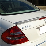Mercedes E Class Sedan Painted Rear Spoiler, 2003, 2004, 2005, 2006, 2007, 2008, 2009