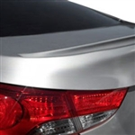 Hyundai Elantra Sedan Lip Mount Painted Rear Spoiler, 2011, 2012, 2013, 2014, 2015, 2016