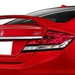 Honda Civic SI Sedan 2 Post Painted Rear Spoiler, 2013, 2014, 2015
