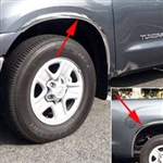 Toyota Tundra Chrome Wheel Well Fender Trim, 2014, 2015, 2016, 2017, 2018, 2019