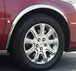 Cadillac Deville, DTS, DHS Chrome Wheel Well Fender Trim, 4pc. Set, 2000, 2001, 2002, 2003, 2004, 2005, 2006, 2007, 2008, 2009, 1010, 2011