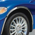 Chrysler PT Cruiser Chrome Wheel Well Fender Trim, 4pc 2001, 2002, 2003, 2004, 2005, 2006, 2007, 2008, 2009, 2010