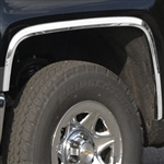 Chevrolet Silverado 1500 Chrome Wheel Well Fender Trim, 2014, 2015
