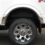 Ford Super Duty Chrome Wheel Well Fender Trim, 2017, 2018, 2019