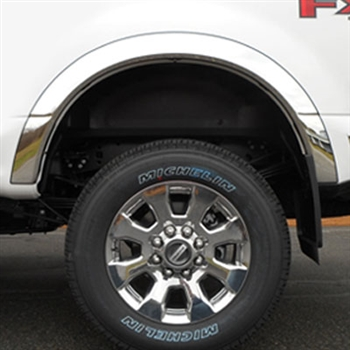 Ford Super Duty Chrome Wheel Well Fender Trim, 2017, 2018, 2019, 2020