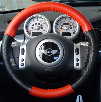 BLACK REAL GENUINE LEATHER STEERING WHEEL COVER BLUE FITS FOR VW TOUAREG 2010
