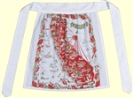 California State Map  50's Style Hostess Apron Reds & Olive Green