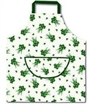 Irish Green Shamrocks on White Apron Good Luck from Ireland!