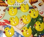 10 Most Precious Little Yellow Duck Buttons Sewing Crafting