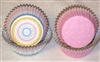 Spring Pink Mini Dots & Stripes Cupcake Liners Baking Cups Cute!