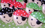 Pirate Face Ring Cupcake Toppers Party Favors So Cute! 12 pc