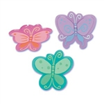 Bright Pastels Butterfly Butterflies Rings Cupcake Toppers Picks