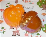 Fall Pumpkins and Acorns Cupcake Picks Cupcake Toppers Harvest Parties