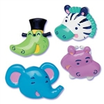 Puffy ZOO ANIMALS Rings Cupcake Toppers Picks TOO CUTE!